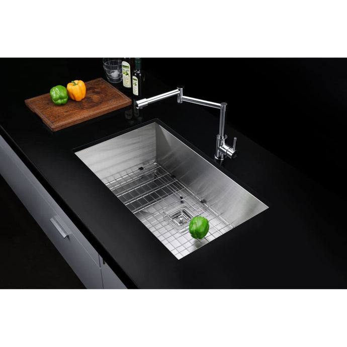 Farmhouse Sink Anzzi K-AZ3219-1AS Vanguard 32 in. Undermount