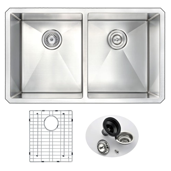 Farmhouse Sink Anzzi K-AZ3219-2A 32 in. Vanguard Undermount