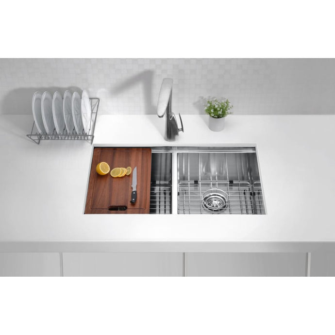 Farmhouse Sink Anzzi K-AZ3219-2Ac ANZZI Aegis 32.75 in.
