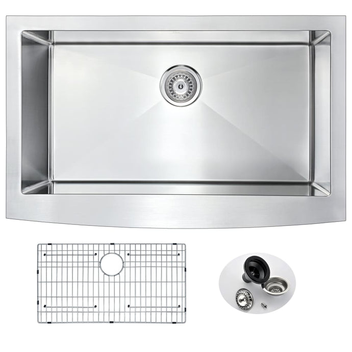 Farmhouse Sink Anzzi K-AZ3320-1A ANZZI Elysian 36 Brushed