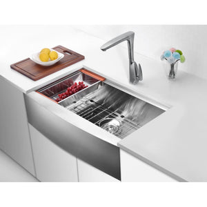 Farmhouse Sink Anzzi K-AZ3320-1Ac Aegis Undermount Stainless