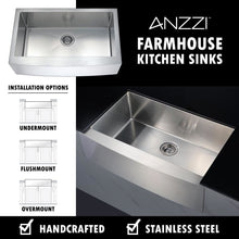 Load image into Gallery viewer, Farmhouse Sink Anzzi K-AZ3320-4A ANZZI Elysian 33 Brushed
