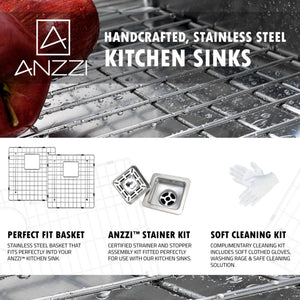 Farmhouse Sink Anzzi K-AZ3320-4AS ANZZI Elysian 33 Stainless