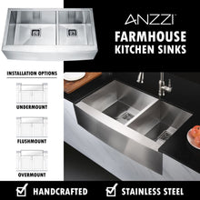Load image into Gallery viewer, Farmhouse Sink Anzzi K-AZ3320-4AS ANZZI Elysian 33 Stainless