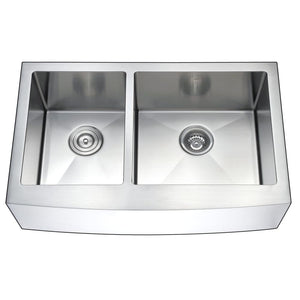 Farmhouse Sink Anzzi K-AZ3320-4B ANZZI Elysian 33 Stainless