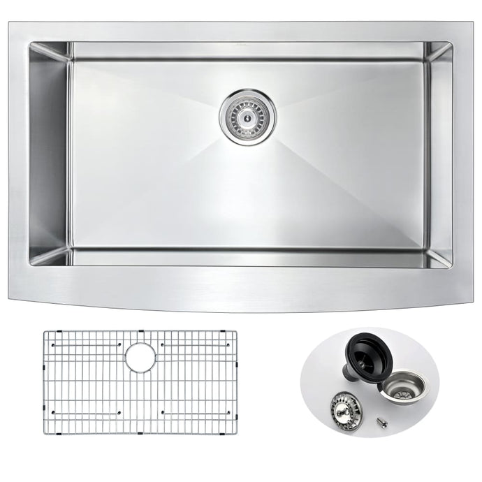 Farmhouse Sink Anzzi K-AZ3620-1A ANZZI Elysian 36 Stainless