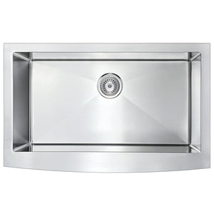 Farmhouse Sink Anzzi K-AZ3620-1AS ANZZI Elysian 36 Brushed