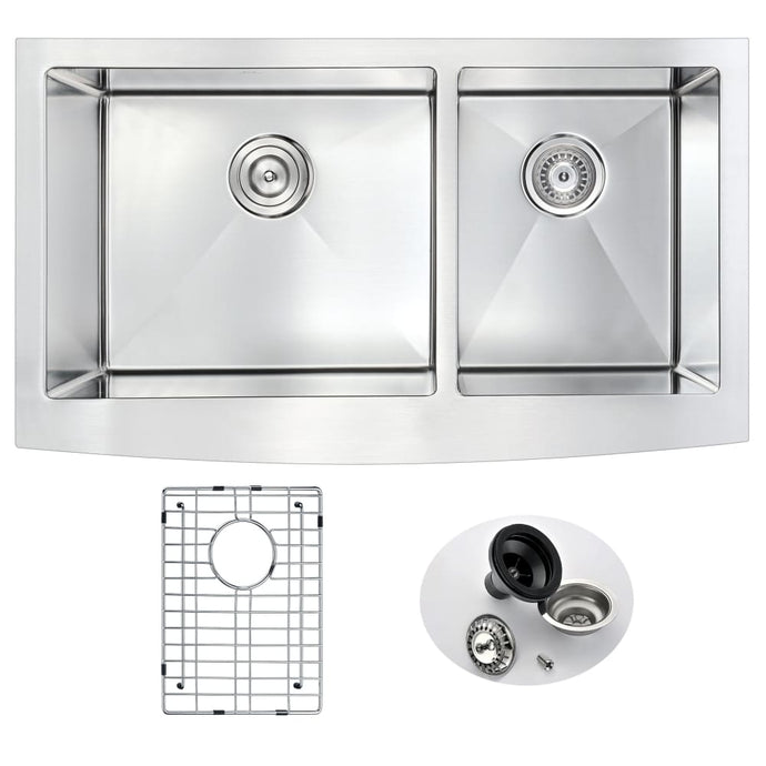 Farmhouse Sink Anzzi K-AZ3620-3A ANZZI Elysian 36 Stainless