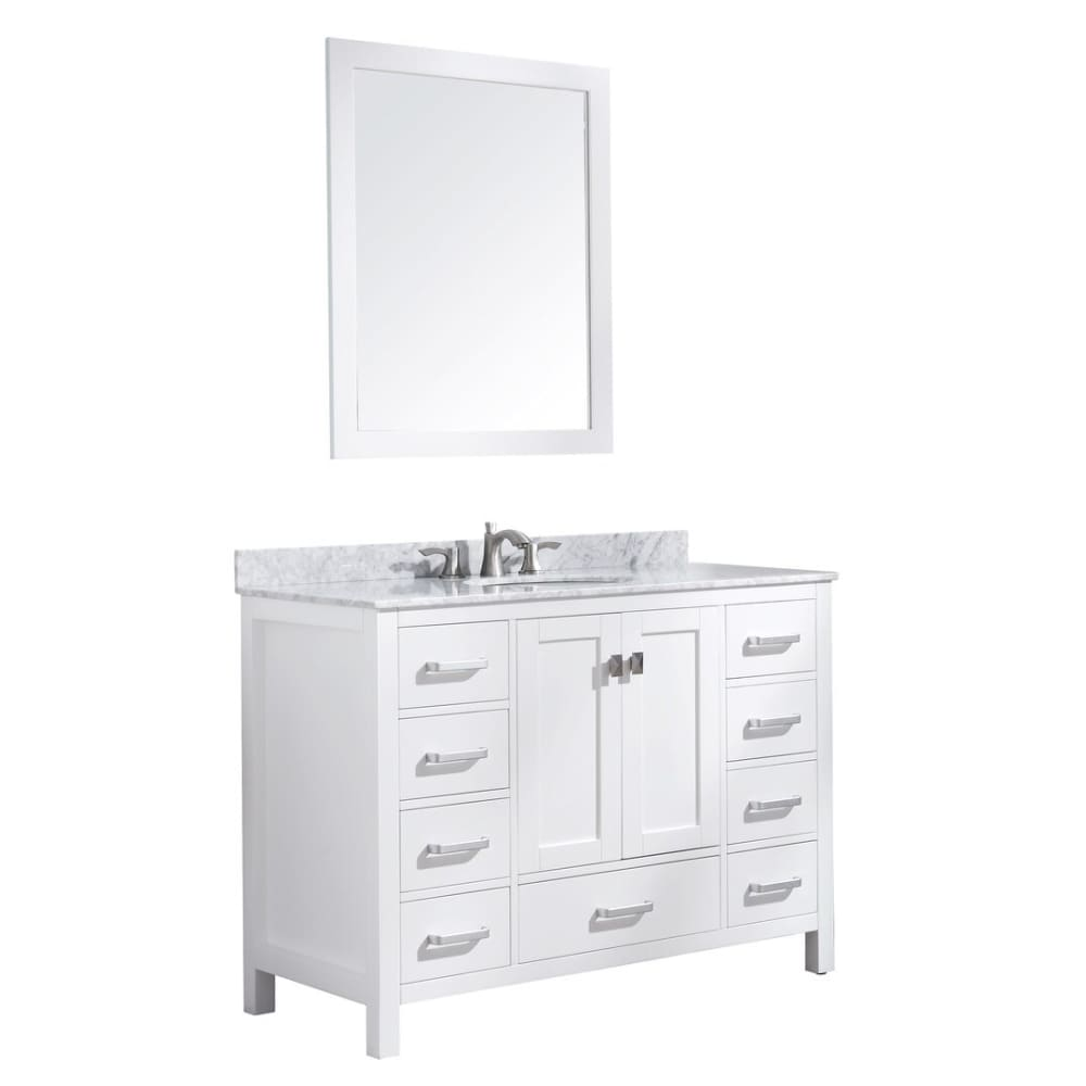 Anzzi V-CHG011-48 Chateau 48 in. W x 36 in. H Bathroom Bath Vanity Set in Rich White