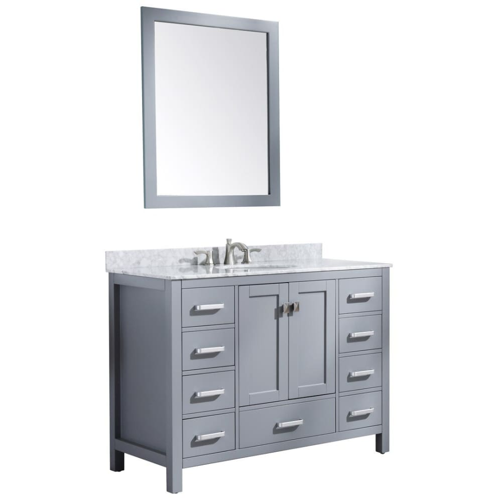 Anzzi V-CHG013-48 Chateau 48 in. W x 36 in. H Bathroom Bath Vanity Set in Rich Gray