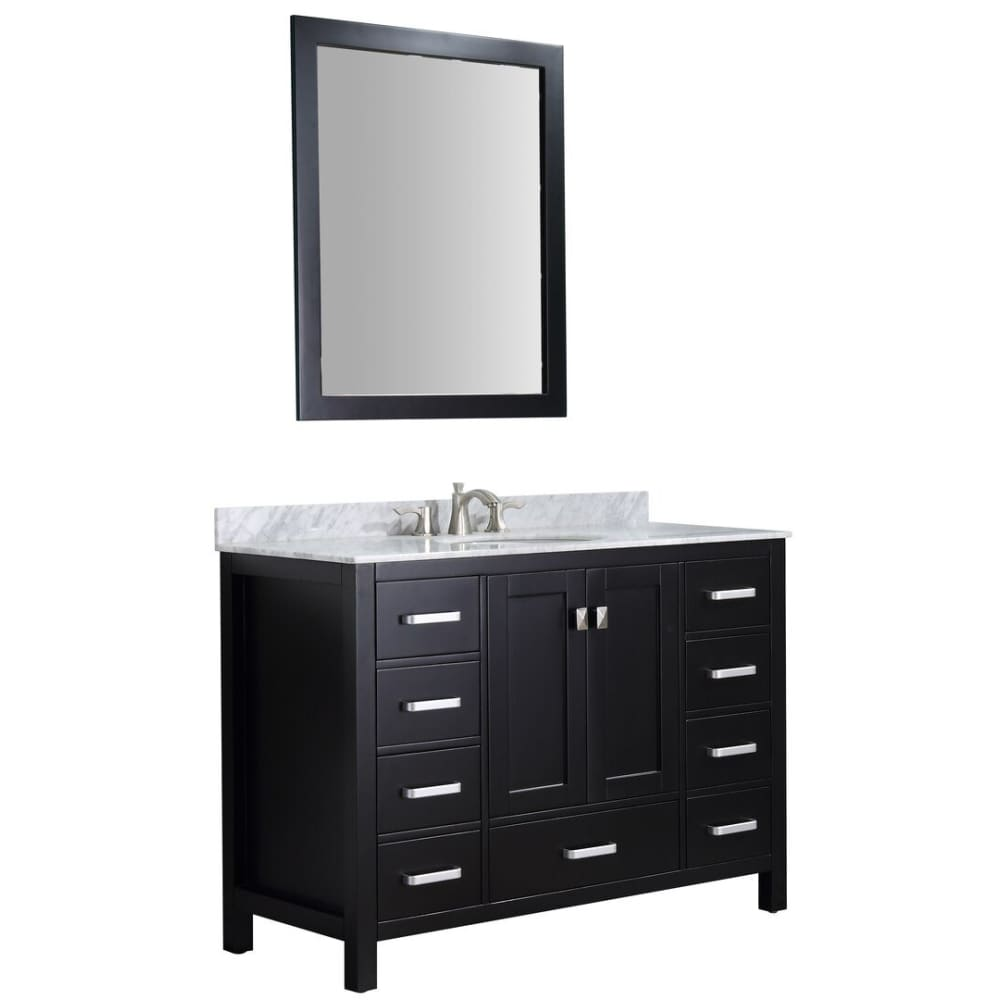 Anzzi V-CHG015-48 Chateau 48 in. W x 36 in. H Bathroom Bath Vanity Set in Rich Black