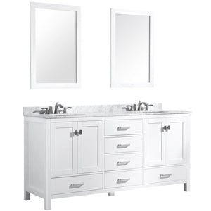 Anzzi V-CHN011-72 Chateau 72 in. W x 36 in. H Bathroom Bath Vanity Set in Rich White