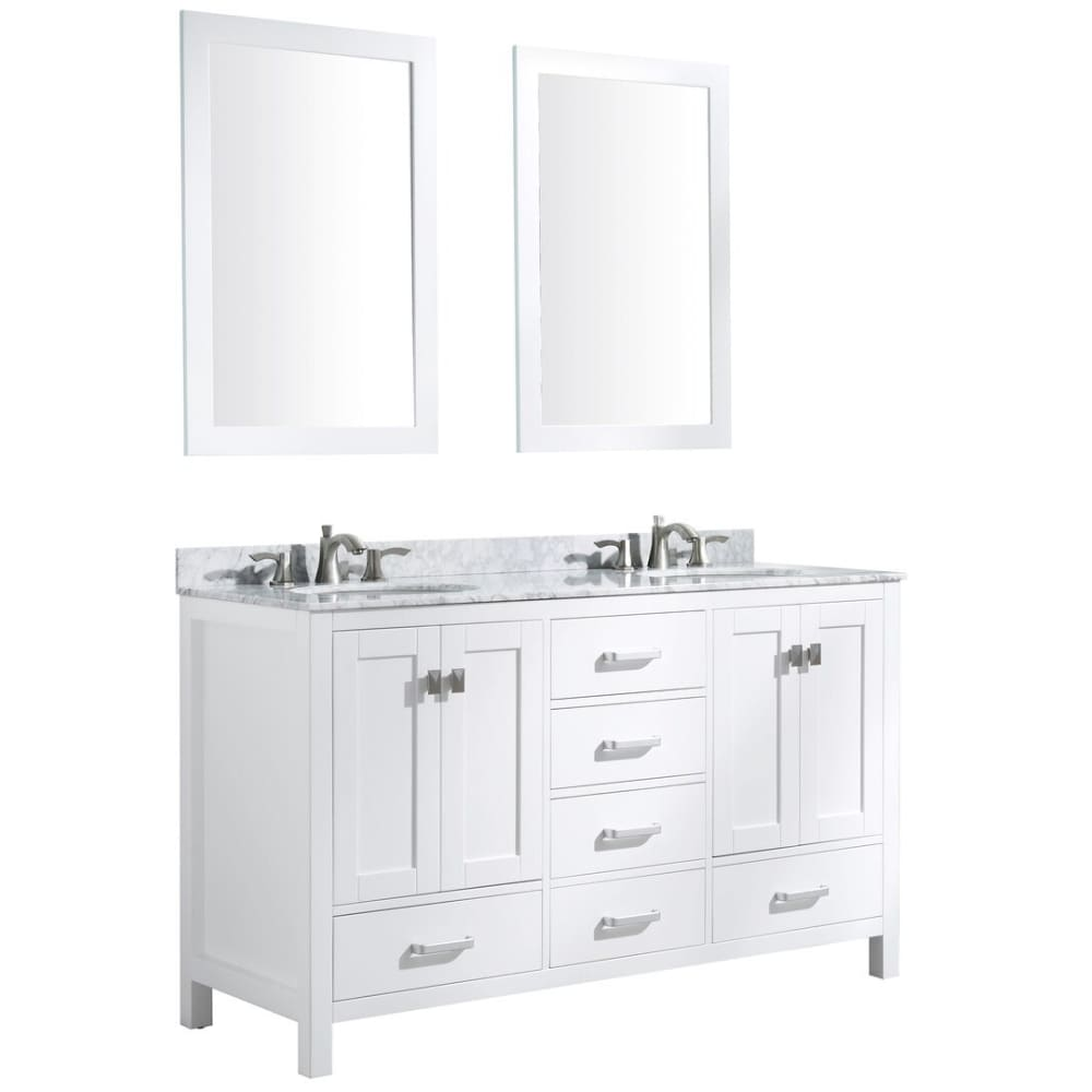 Anzzi V-CHO011-60 Chateau 60 in. W x 36 in. H Bathroom Vanity Set in Rich White