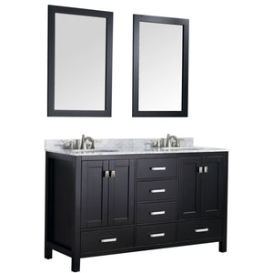 Anzzi V-CHO015-60 Chateau 60 in. W x 36 in. H Bathroom Vanity Set in Rich Black