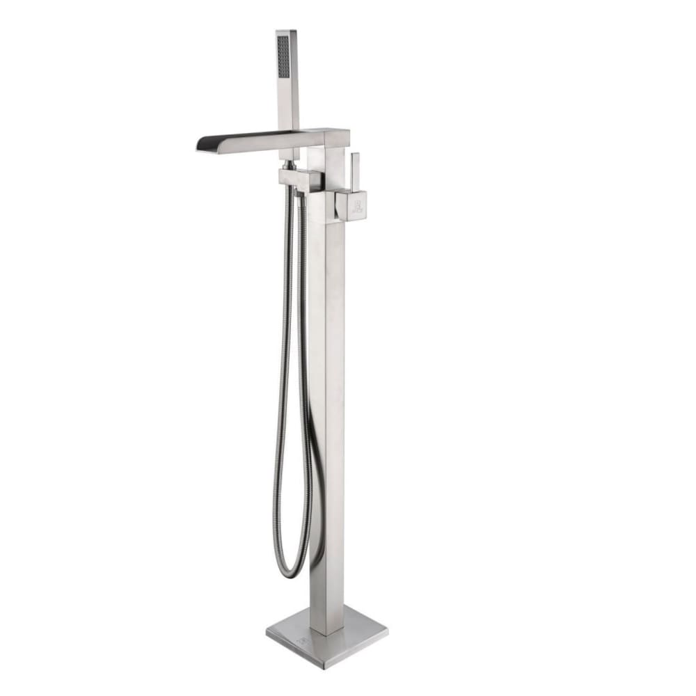 Anzzi FS-AZ0059BN Union 2-Handle Claw Foot Tub Faucet with Hand Shower in Brushed Nickel