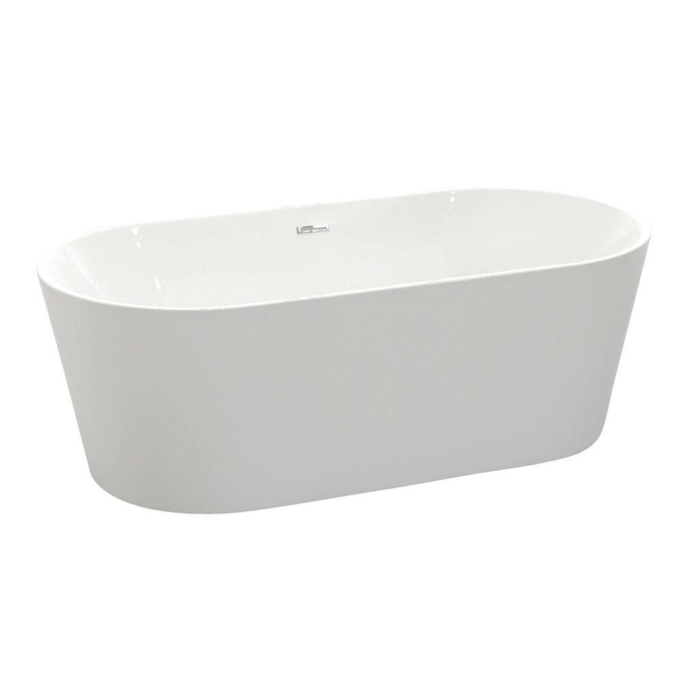 Anzzi FT-AZ098 Chand Series 5.58 ft. Freestanding Bathtub in White