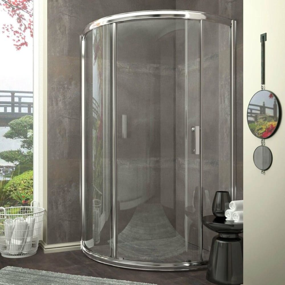 Anzzi SD-AZ01-01CH Baron Series 39 in. x 74.75 in. Framed Sliding Shower Door in Polished Chrome