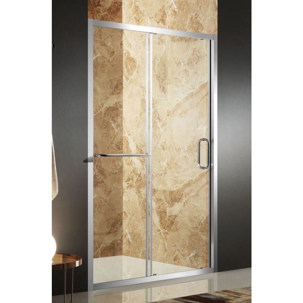 Anzzi SD-AZ02BCH-L Regent 48 in. x 72 in. Framed Sliding Shower Door in Polished Chrome with Handle