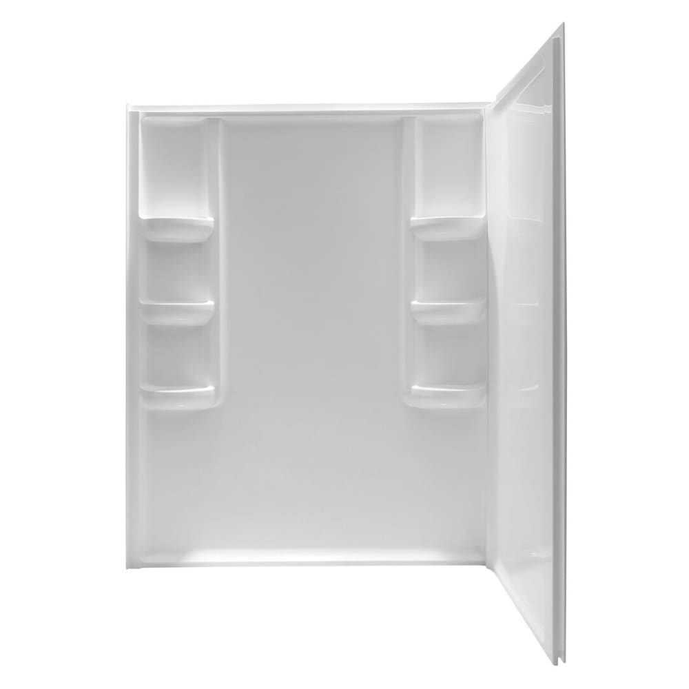 Anzzi SW-AZ005WH Lex-Class 60 in. x 36 in. x 74 in. 2-piece Direct-to-Stud Corner Shower Surround in White