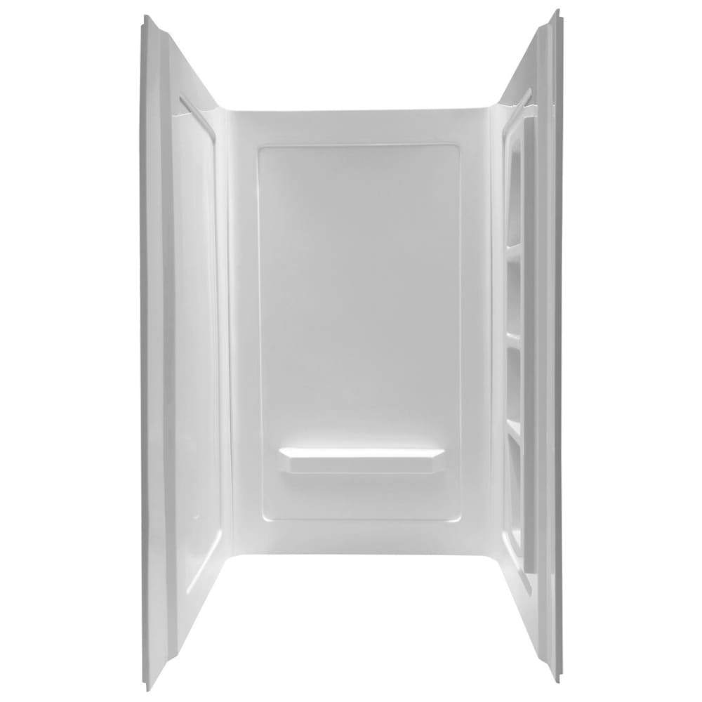 Anzzi SW-AZ011WH Forum 48 in. x 36 in. x 74 in. 3-piece Direct-to-Stud Alcove Shower Surround in White
