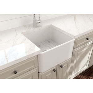 Farmhouse Sink Bocchi 1136-001-0120 20 Fireclay Apron