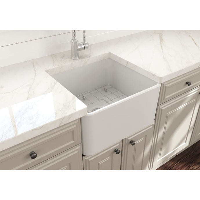 Farmhouse Sink Bocchi 1136-002-0120 20 Fireclay Apron