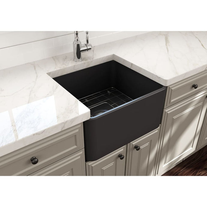 Farmhouse Sink Bocchi 1136-020-0120 20 Fireclay Apron