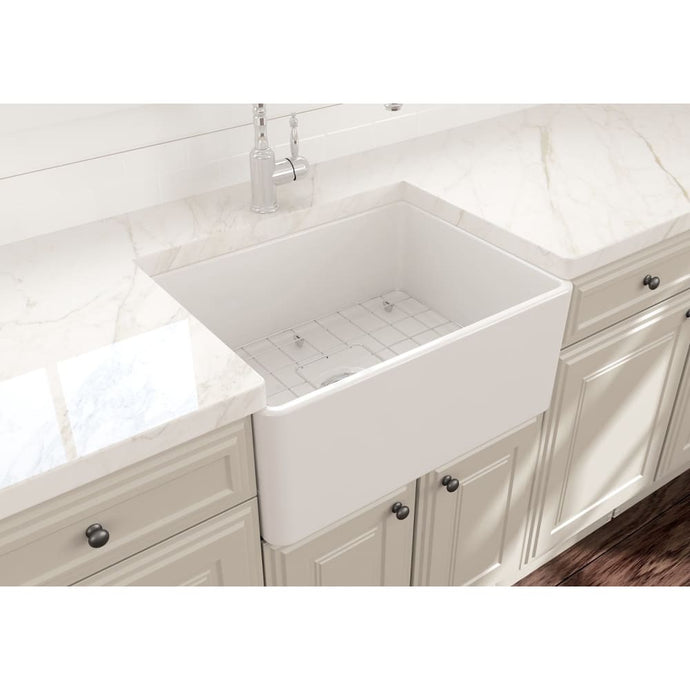 Farmhouse Sink Bocchi 1137-001-0120 24 Fireclay Apron