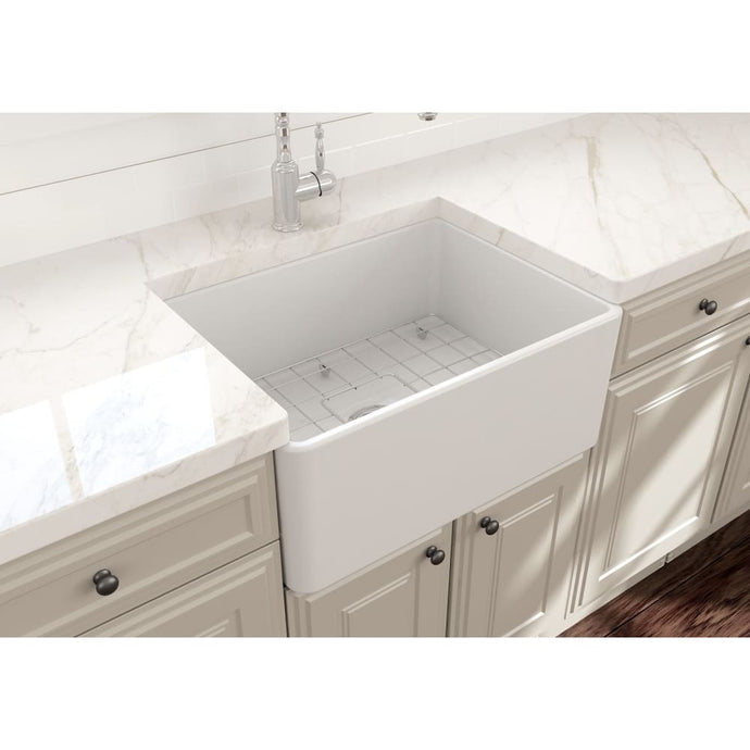 Farmhouse Sink Bocchi 1137-002-0120 24 Fireclay Apron