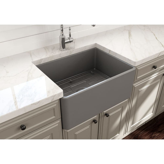Farmhouse Sink Bocchi 1137-006-0120 24 Fireclay Apron