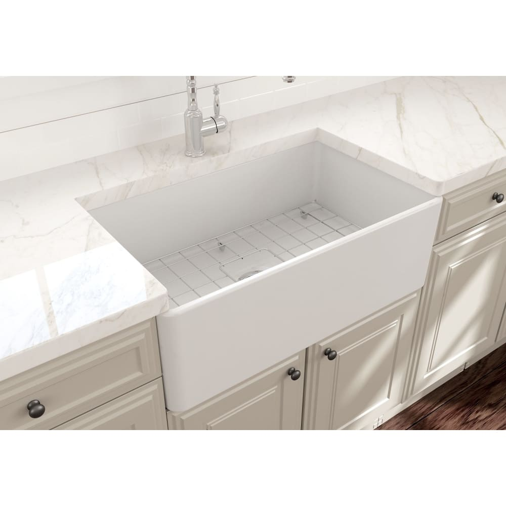 Farmhouse Sink Bocchi 1138-002-0120 30 Fireclay Apron