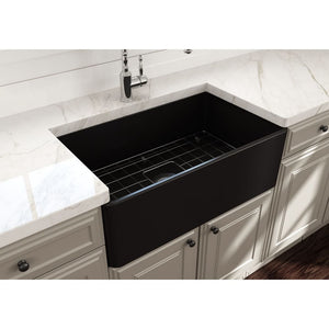 Farmhouse Sink Bocchi 1138-004-0120 30 Fireclay Apron