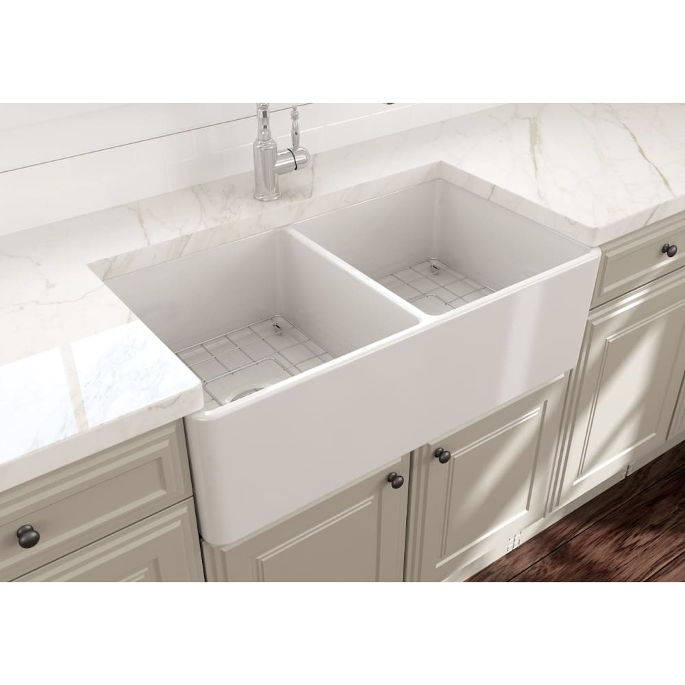 Farmhouse Sink Bocchi 1139-001-0120 33 Fireclay Apron