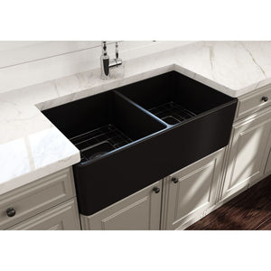 Farmhouse Sink Bocchi 1139-004-0120 33 Fireclay Apron