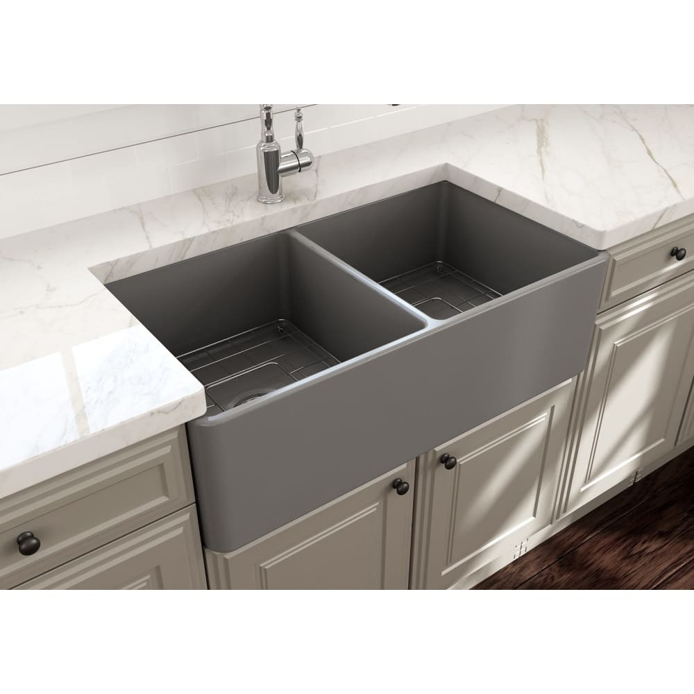 Farmhouse Sink Bocchi 1139-006-0120 33 Fireclay Apron
