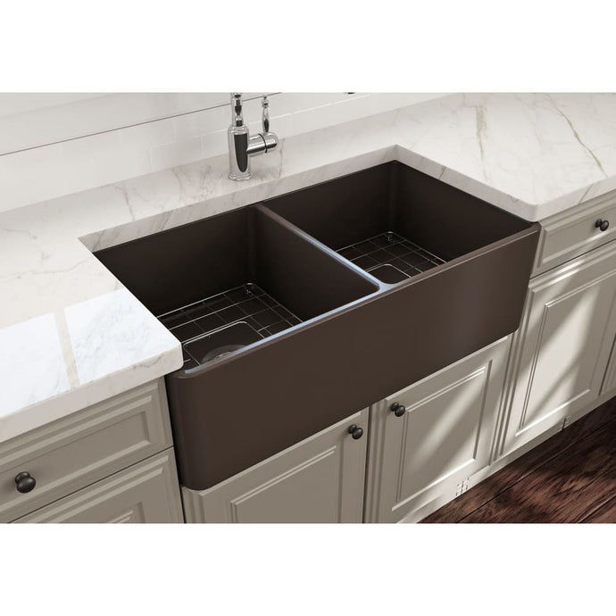 Farmhouse Sink Bocchi 1139-025-0120 33 Fireclay Apron