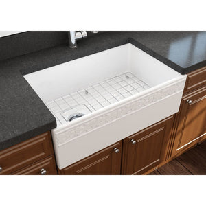 Farmhouse Sink Bocchi 1347-001-0120 30 Fireclay Apron