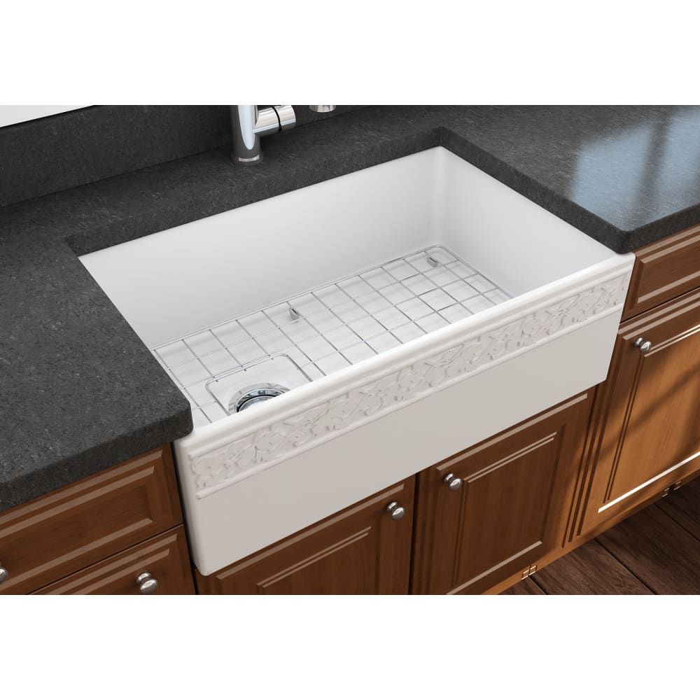 Farmhouse Sink Bocchi 1347-002-0120` 30 Fireclay Apron