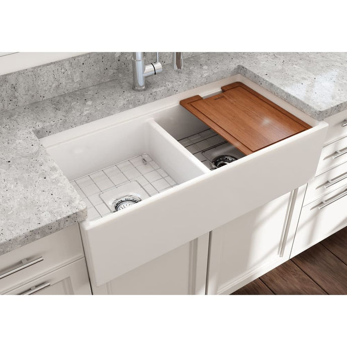 Farmhouse Sink Bocchi 1348-001-0120 36 Fireclay Apron