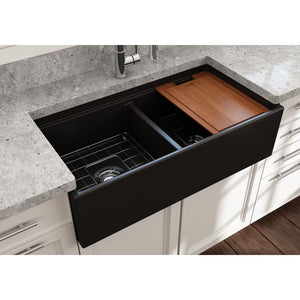 Farmhouse Sink Bocchi 1348-004-0120 36 Fireclay Apron