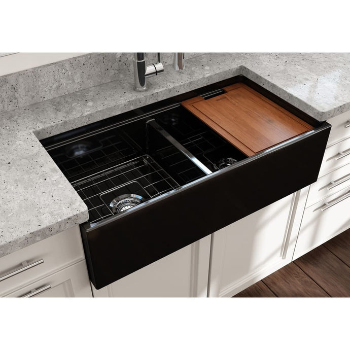 Farmhouse Sink Bocchi 1348-005-0120 36 Fireclay Apron
