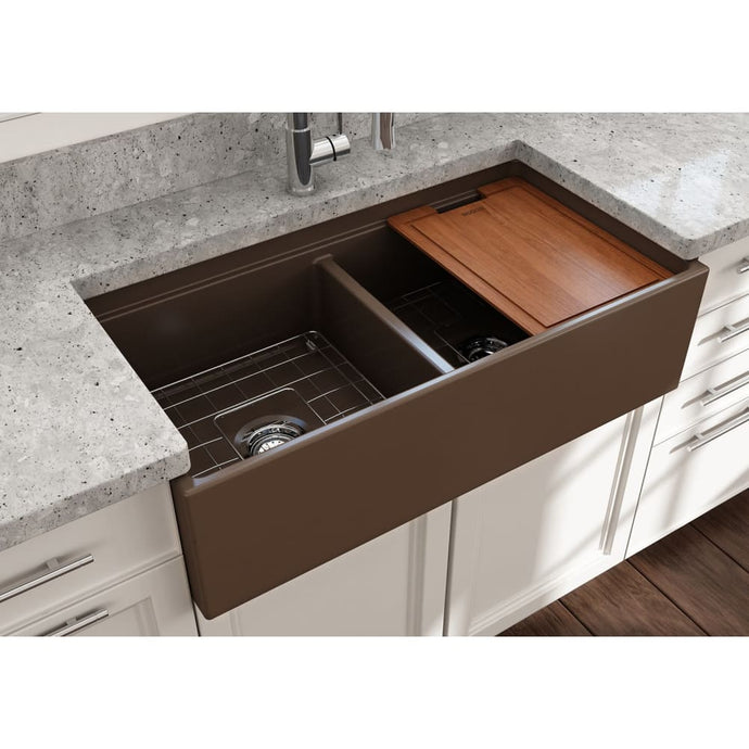 Farmhouse Sink Bocchi 1348-025-0120 36 Fireclay Apron
