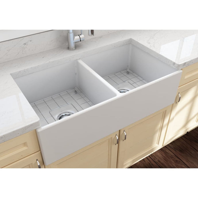 Farmhouse Sink Bocchi 1350-002-0120 36 Fireclay Apron