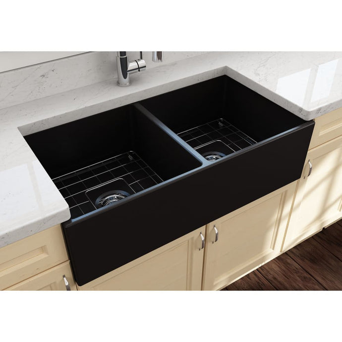 Farmhouse Sink Bocchi 1350-004-0120 36 Fireclay Apron