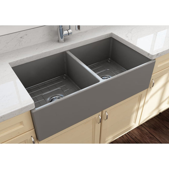 Farmhouse Sink Bocchi 1350-006-0120 36 Fireclay Apron