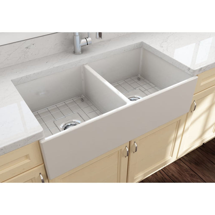 Farmhouse Sink Bocchi 1350-014-0120 36 Fireclay Apron