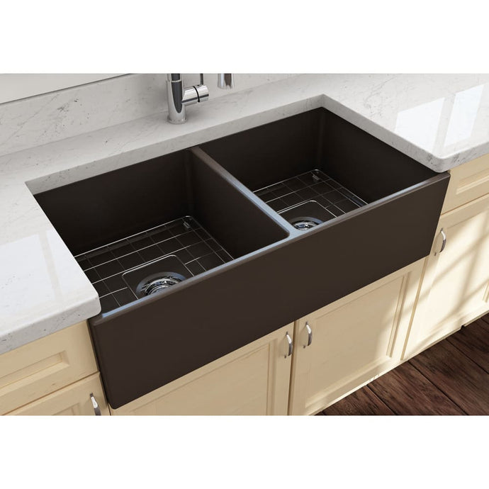 Farmhouse Sink Bocchi 1350-025-0120 36 Fireclay Apron