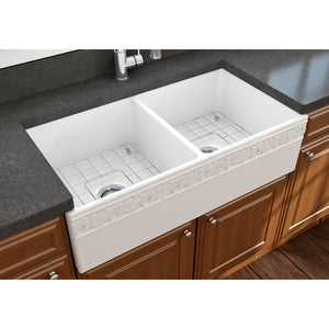 Farmhouse Sink Bocchi 1351-001-0120 36 Fireclay Apron