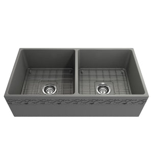 Farmhouse Sink Bocchi 1351-006-0120 36 Fireclay Apron