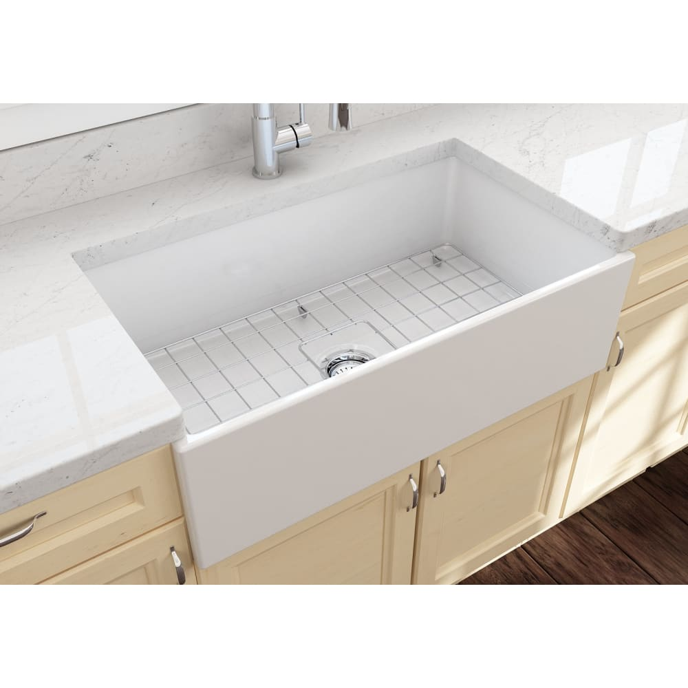 Farmhouse Sink Bocchi 1352-001-0120 33 Fireclay Apron